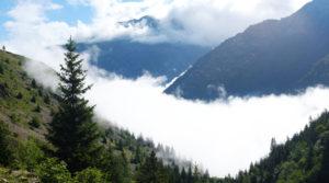 Chalet le GrillJeux de nuage en descendant du refuge de la Muzelle