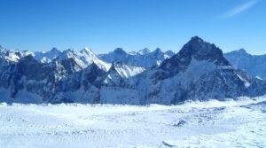 Chalet le GrillVue sur le massif des Ecrins depuis le glacier